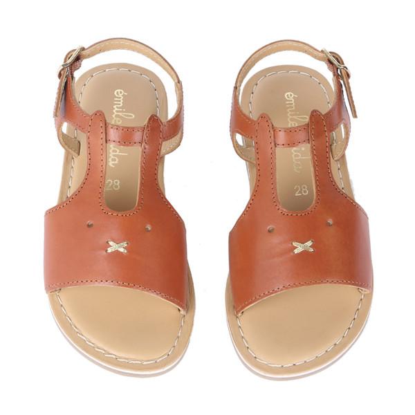 Sandale Hase Braun