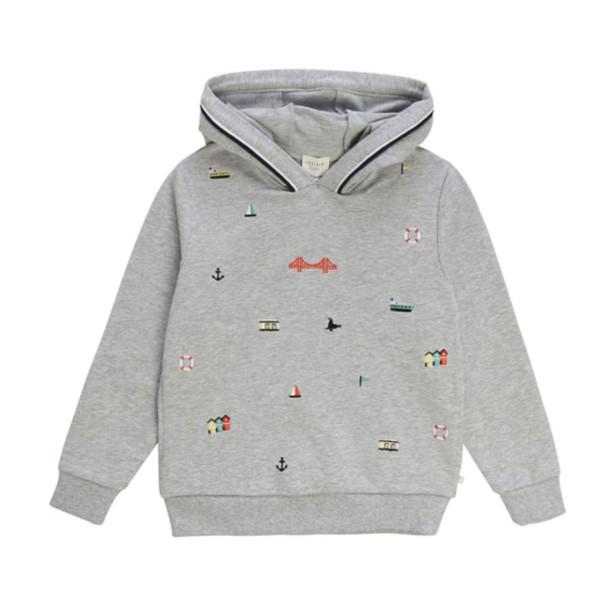 Sweatshirt mit Kapuze bestickt