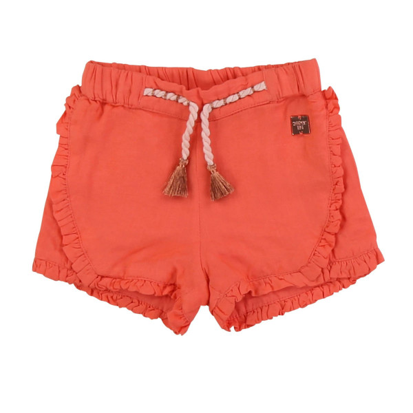 Baby Shorts Leinen Apricot