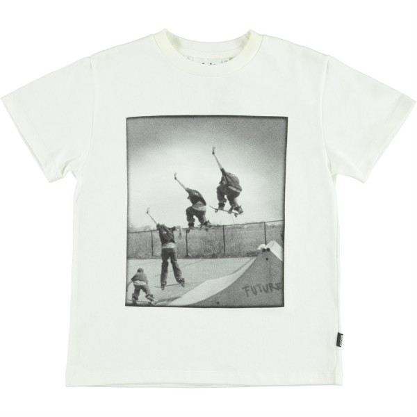 T-Shirt Roxo Skateboard White Star