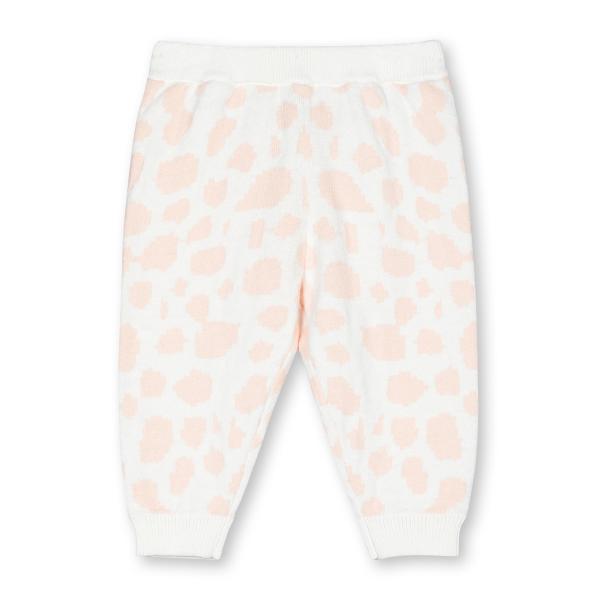 Baby Hose Spots Intarsia rosa