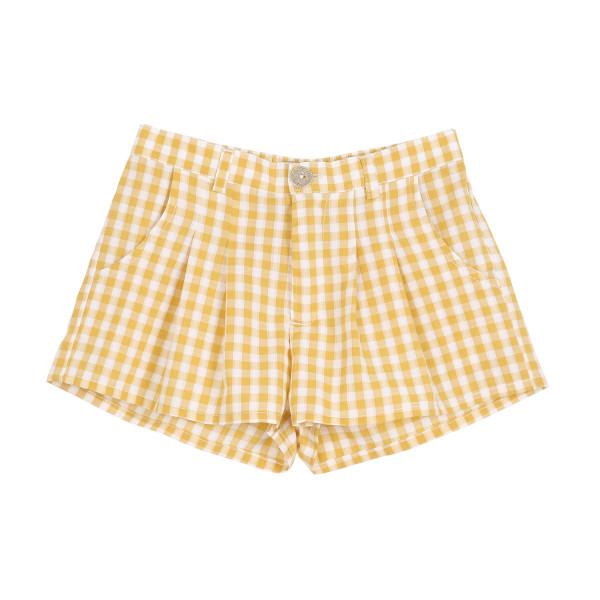 Shorts Vichy Gelb