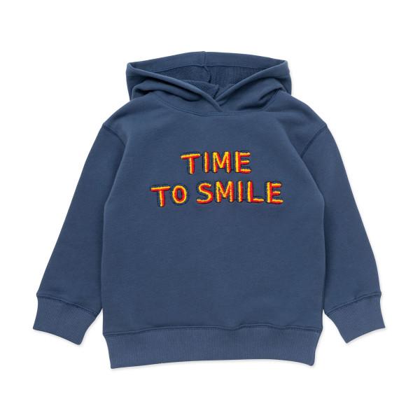 Sweatshirt mit Kapuze 'Time to smile'