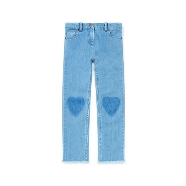 Jeans Herz hellblau