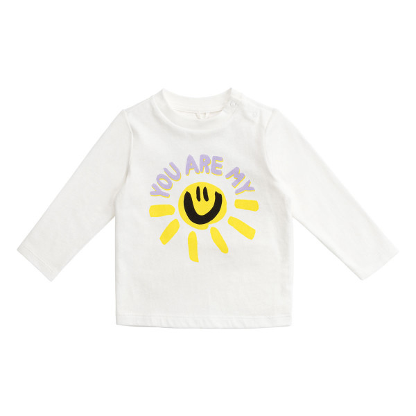 Baby Longsleeve You are my sunshine Weiss