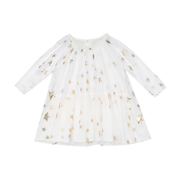 Baby Kleid weiß mit goldenen Sternen