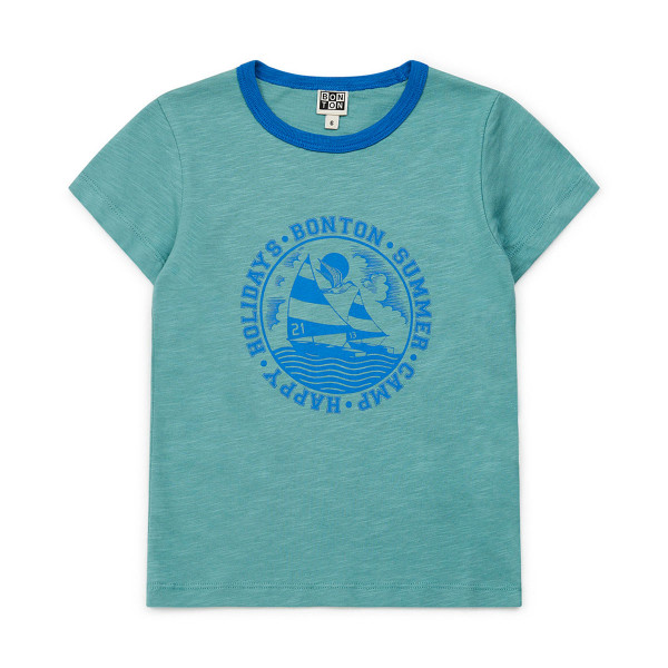 T-Shirt Summer Holidays blau