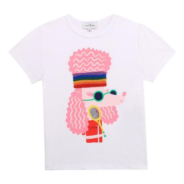 T-Shirt Pudel weiß