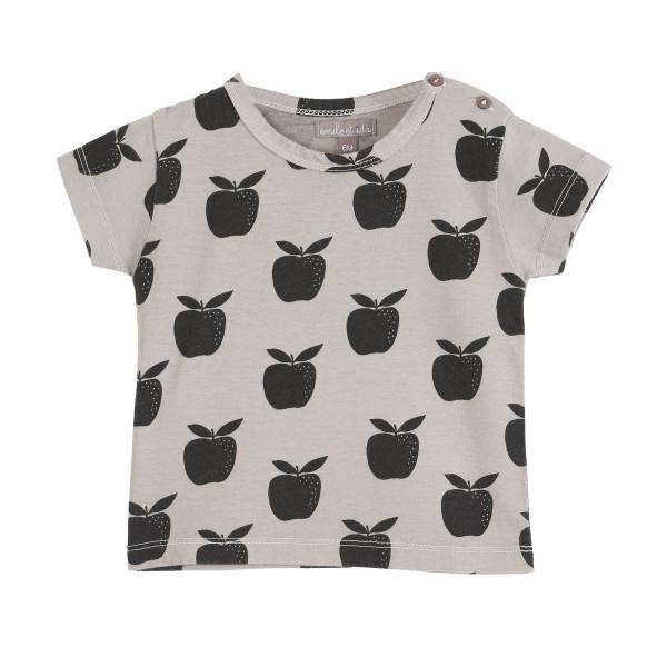 Bedrucktes T-Shirt Apfel