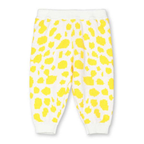 Baby Hose Spots Intarsia gelb