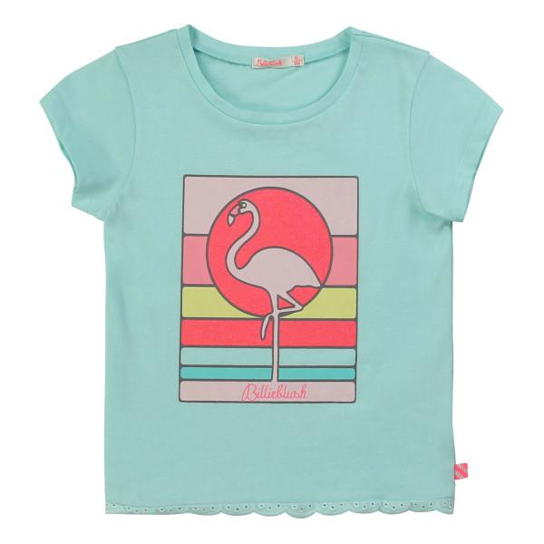 T-Shirt Flamingo Türkis