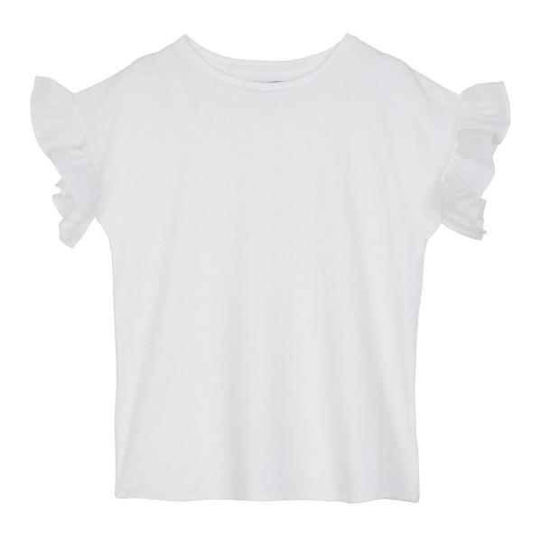 Baby T-Shirt mit Rüschen Weiß