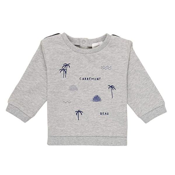 Baby Sweatshirt hellgrau