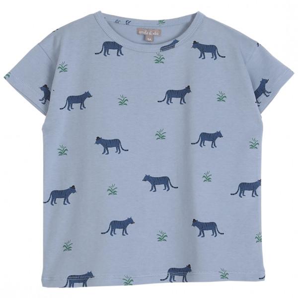 T-Shirt blau Tiger
