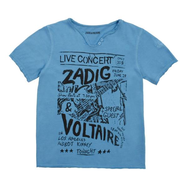 T-Shirt blau mit Print