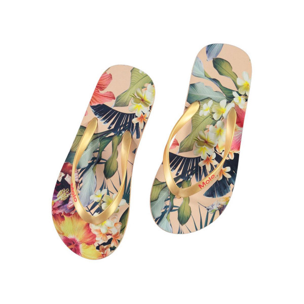 Flip Flops Zeppo Hawaiian Flowers