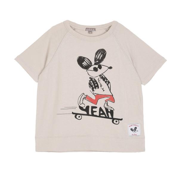 Bedrucktes T-Shirt Beige