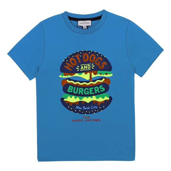 T-Shirt Hot Dogs and Burgers blau