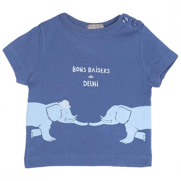 Baby T-Shirt blau Delhi Ocean
