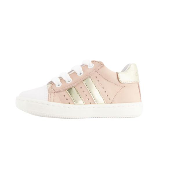 Sneaker rosa mit Streifen gold
