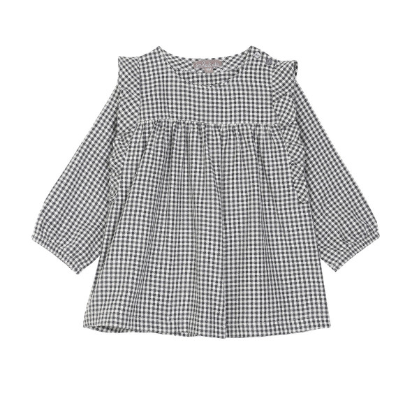 Kleid Vichy grau