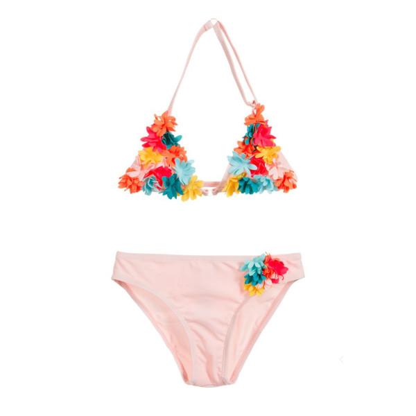 Bikini rosa Blumen