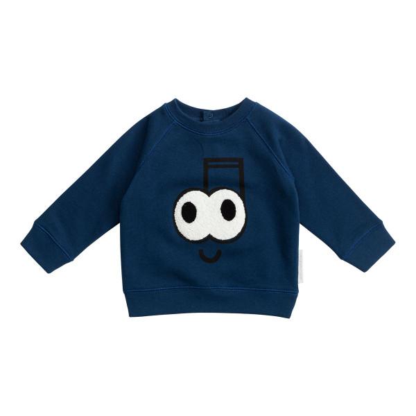 Baby Sweatshirt dunkelblau mit Augen