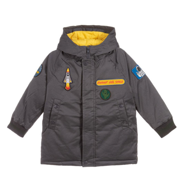 Jacke Grau mit Space Patches