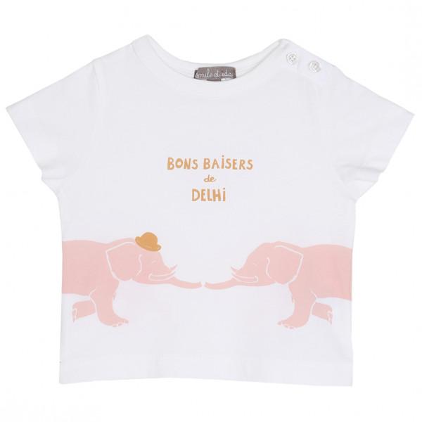 Baby T-Shirt weiß Delhi Rose