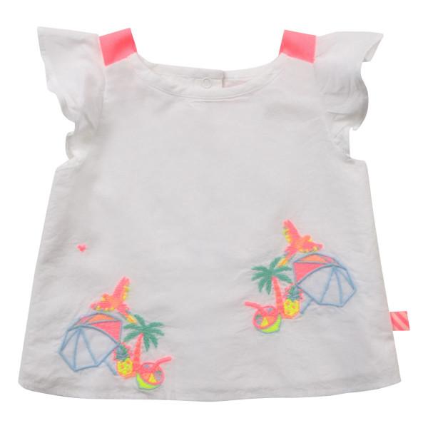Baby Bluse weiß mit Stickerei