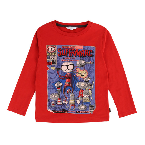 Longsleeve Comic Super Marc rot